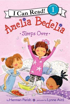 Cover image for Amelia Bedelia sleeps over