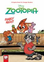 Cover image for Disney Zootopia. Family night / script by Jimmy Gownley ; art by Leandro Ricardo da Silva.
