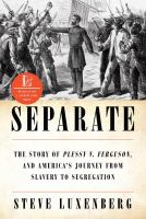 Cover image for Separate : the story of Plessy v. Ferguson, and America's journey from slavery to segregation / Steve Luxenberg.