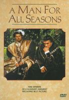 Cover image for A man for all seasons / Columbia Pictures presents Fred Zinnemann's film.