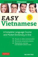 Cover image for Easy Vietnamese / Bá̆c Hoài Trǹ́̂, Sandra Guja.