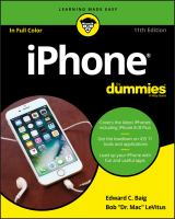 """Cover image for iPhone / by Edward C. Baig, USA today Personal Tech columnist and Bob LeVitus, Houston chronicle """"Dr. Mac"""" columnist."""