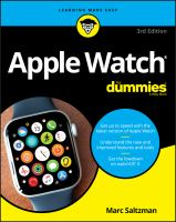 Cover image for Apple Watch for dummies / by Marc Saltzman, freelance journalist, author, speaker, and radio and TV personality.