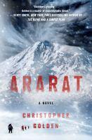Cover image for Ararat / Christopher Golden.