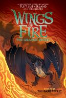Cover image for Wings of fire. Book four, The dark secret : the graphic novel / by Tui T. Sutherland ; adapted by Barry Deutsch and Rachel Swirsky ; art by Mike Holmes ; color by Maarta Laiho.
