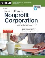Cover image for How to form a nonprofit corporation.