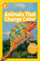 Cover image for Animals that change color / Libby Romero.