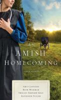 Cover image for An Amish homecoming [text (large print)] : four stories / Amy Clipston, Beth Wiseman, Shelley Shepard Gray, Kathleen Fuller.