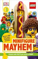 Cover image for LEGO minifigure mayhem / by Beth Davies and Helen Murray.