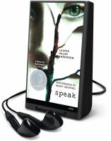 Cover image for Speak [sound recording] / Laurie Halse Anderson.