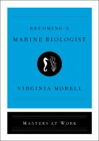 Cover image for Becoming a marine biologist / Virginia Morell.