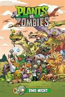 Cover image for Plants vs. zombies. Dino-might / written by Paul Tobin ; art by Ron Chan ; colors by Heather Breckel ; letters by Steve Dutro ; cover by Ron Chan ; bonus story art by Philip Murphy.
