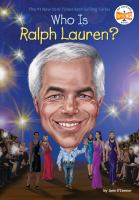 Cover image for Who is Ralph Lauren? / Jane O'Connor ; illustrated by Stephen Marchesi.