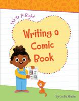 Cover image for Writing a comic book / by Cecilia Minden ; illustrated by Carol Herring.