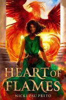 Cover image for Heart of flames / by Nicki Pau Preto.
