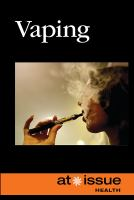 Cover image for Vaping / Andrew Karpan, book editor, [compiling editor].