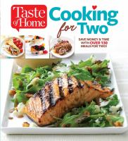 Cover image for Cooking for two [text (large print)].