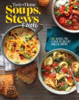 Cover image for Taste of Home soups, stews & more.