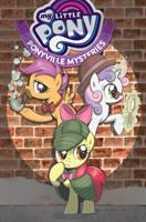 Cover image for My little pony : Ponyville mysteries / written by Christina Rice ; with art by Agnes Garbowska, colors by Heather Breckel, letters by Neil Uyetake and Christa Miesner.