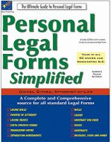 Cover image for Personal legal forms simplified.