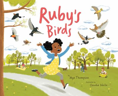 Cover image for Ruby's birds / by Mya Thompson; illustrated by Claudia Dávila.