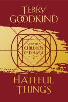 Cover image for Hateful things [sound recording] / Terry Goodkind.