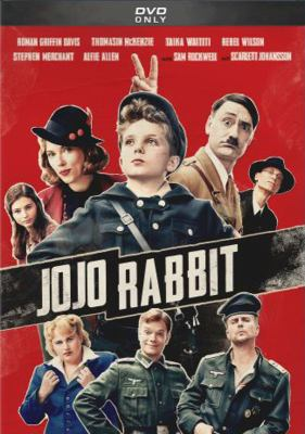 Cover image for Jojo Rabbit / Fox Searchlight Pictures presents ; in association with TSG Entertainment ; a Defender and Piki Films production ; produced by Carthew Neal, Taika Waititi, Chelsea Winstanley ; screenplay by Taika Waititi ; directed by Taika Waititi.
