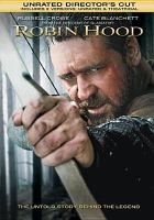Cover image for Robin Hood / Universal Pictures and Imagine Entertainment present in association with Relativity Media a Brian Grazer production in association with Scott Free Productions ; produced by Brian Grazer, Ridley Scott, Russell Crowe ; screenplay by Brian Helgeland ; directed by Ridley Scott.