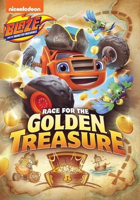 Cover image for Blaze and the monster machines. Race for the golden treasure / Nickelodeon.