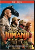 Cover image for Jumanji : the next level / Columbia Pictures presents ; a Matt Tolmach, Seven Bucks, Detective Agency production ; directed by Jake Kasdan ; written by Jake Kasdan & Jeff Pinkner & Scott Rosenberg ; produced by Matt Tolmach, Jake Kasdan, Dwayne Johnson, Dany Garcia, Hiram Garcia.