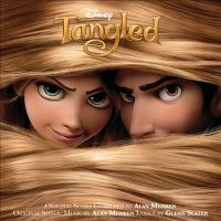 Cover image for Tangled [sound recording] : [an original Walt Disney Records soundtrack] / original score composed by Alan Menken ; original songs, music by Alan Menken, lyrics by Glenn Slater ; [vocal arrangements by Michael Kosarin ; songs arranged and orchestrated by Michael Starobin ; score orchestrated by Kevin Kliesch].