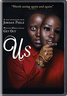 Cover image for Us / Universal Pictures presents ; in association with Perfect World Pictures ; a Monkeypaw production ; produced by Sean McKittrick, Jason Blum, Ian Cooper ; written, produced and directed by Jordan Peele.