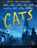 Cover image for Cats [BLU-RAY] / directed by Tom Hooper ; produced by Debra Hayward, Tim Bevan, Eric Fellner, Tom Hooper ; screenplay by Lee Hall & Tom Hooper ; music by Andrew Lloyd Webber ; a Universal Pictures presentation ; in association with Perfect World Pictures ; a Working Title and Amblin Entertainment production ; in association with Monumental Pictures and The Really Useful Group.