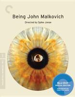 Cover image for Being John Malkovich [BLU-RAY] / Universal ; USA Films ; Gramercy Pictures presents a Propaganda Films/Single Cell Pictures production ; directed by Spike Jonze ; written by Charlie Kaufman ; produced by Michael Stipe and Sandy Stern ; produced by Steve Golin, Vincent Landay ; executive producers, Charlie Kaufman, Michael Kuhn.