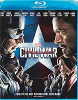 Cover image for Captain America, civil war [BLU-RAY] / Marvel Studios presents ; directed by Anthony and Joe Russo ; screenplay by Christopher Markus & Stephen McFeely ; produced by Kevin Feige.