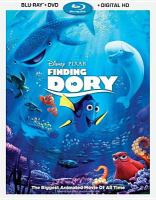 Cover image for Finding Dory [BLU-RAY] / Disney presents ; a Pixar Animation Studios film ; screenplay by Andrew Stanton, Victoria Strouse ; produced by Lindsey Collins ; co-directed by Angus MacLane ; directed by Andrew Stanton.