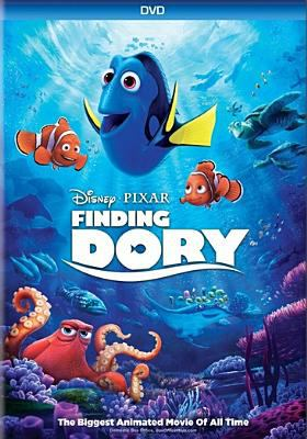Cover image for Finding Dory / Walt Disney Pictures presents a Pixar Animation Studios film ; directed by Andrew Stanton ; co-directed by Angus MacLane ; produced by Lindsey Collins ; original story by Andrew Stanton ; screenplay by Andrew Stanton, Victoria Strouse.