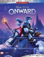 Cover image for Onward [BLU-RAY] / Disney ; Pixar ; directed by Dan Scanlon ; produced by Kori Rae ; original story by Dan Scanlon, Keith Bunin, Jason Headley ; screenplay by Dan Scanlon, Jason Headley, Keith Bunin ; created & produced at Pixar Animation Studios.