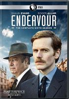 Cover image for Endeavour. The complete sixth season / a co-production of Mammoth Screen and Masterpiece in association with ITV Studios ; directed by Johnny Kenton, Shaun Evans, Leanne Welham, Jamie Donoughue ; produced by Deanne Cunningham ; written and devised by Russell Lewis.