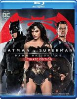 Cover image for Batman v Superman, dawn of justice [BLU-RAY] / Warner Bros. Pictures presents ; an Atlas Entertainment/Cruel and Unusual production ; written by Chris Terrio and David S. Goyer ; produced by Charles Roven, Deborah Snyder ; directed by Zack Snyder.
