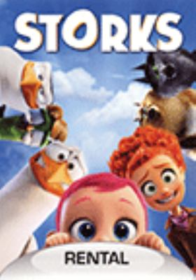 Cover image for Storks / Warner Bros. Pictures ; producers, Nicholas Stoller, Brad Lewis ; writer, Nicholas Stoller ; directors, Nicholas Stoller, Doug Sweetland.