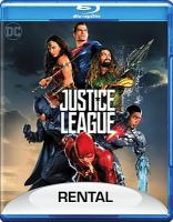 Cover image for Justice League [BLU-RAY] / Warner Bros. Pictures presents ; in association with Access Entertainment and Dune Entertainment ; an Atlas Entertainment/Cruel and Unusual production ; a Zack Snyder film ; produced by Charles Roven, Deborah Snyder, Jon Berg, Geoff Johns ; story by Chris Terrio & Zack Snyder ; screenplay by Chris Terrio and Joss Whedon ; directed by Zack Snyder.