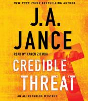 Cover image for Credible Threat (CD) [sound recording] / J. A. Jance.