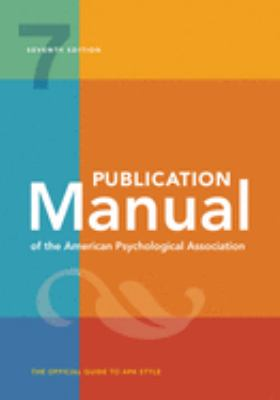 Book cover, Publication Manual of the APA 7th edition