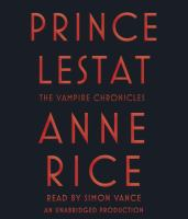 Cover image for Prince Lestat [sound recording (book on CD)]