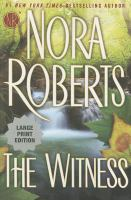 Cover image for The witness [large type]