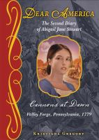 Cover image for Cannons at dawn : the second diary of Abigail Jane Stewart