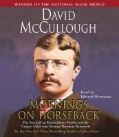 Cover image for Mornings on horseback [sound recording (book on CD)]