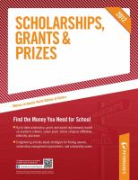 Cover image for Scholarships, Grants & Prizes 2012