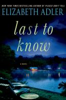 Cover image for Last to know